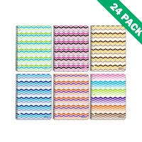Spiral Notebook College Ruled, Teens Chevron 1-subject Spiral Notebooks 24 Units
