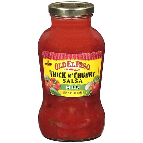 Old El Paso: All Natural Thick N' Chunky Mild Salsa, 24 Oz