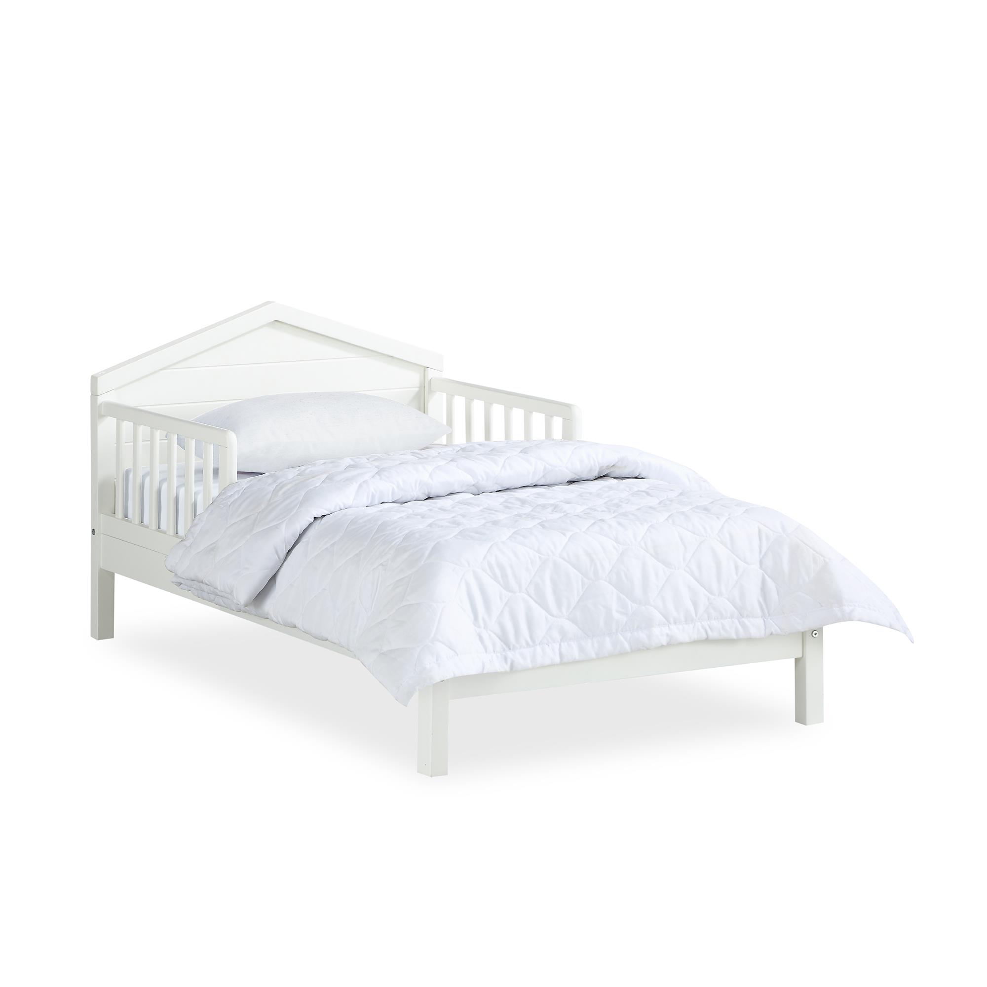 Novogratz Albie Toddler Bed w/ Reversible Headboard, White ...