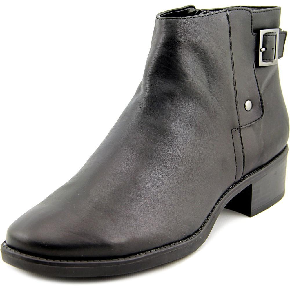 Easy Spirit Novara Women Round Toe Leather Black Ankle Boot by Easy Spirit