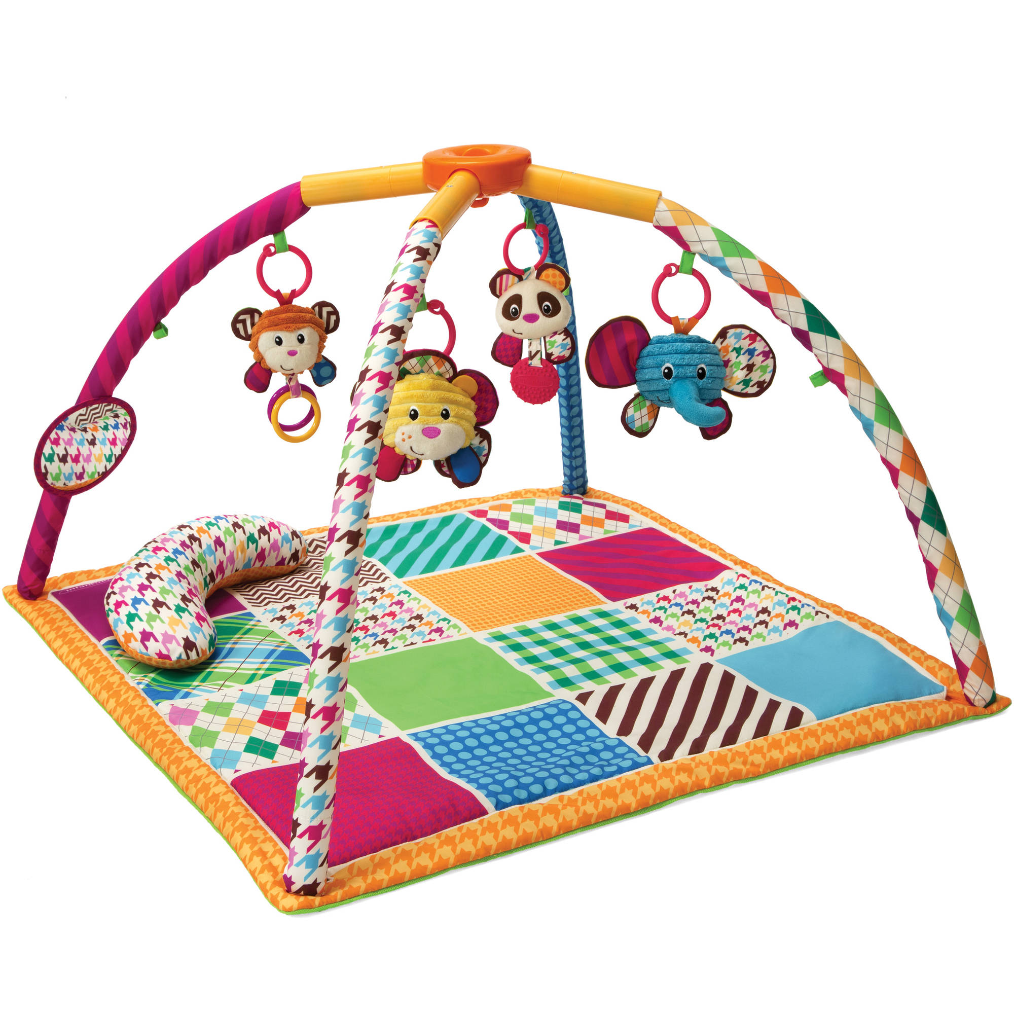 Infantino See Play Go Safari Fun Twist & Fold Activity Gym & Play Mat