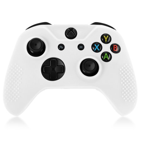 official photos b043b 53cfb XBox One S / XBox Elite Controller Case (White) - Soft Silicone Gel Rubber  Grip Case Protective Cover Skin for XBox One S / XBox Elite Wireless Game  ...