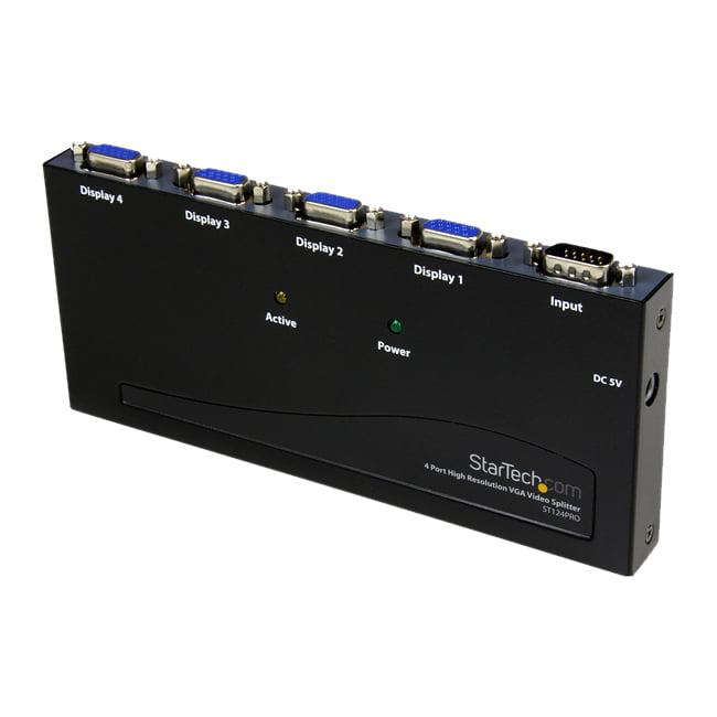 StarTech.com 4 Port High Resolution VGA Video Splitter