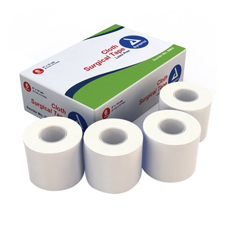 Dynarex Cloth Surgical Tape - 2 Inches  X 10 Yds, (Box Of 6 Rl)