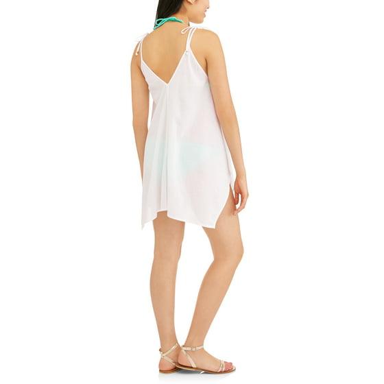 20ab5e4aeb6fa No Boundaries - Juniors' Gauze Embroidered Swim Cover-Up Tank Top ...