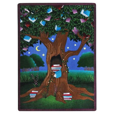 Joy Carpets Reading Tree Kids Indoor Area Rug