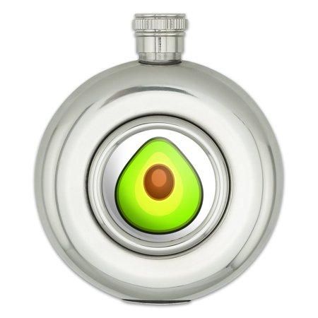 Avocado Round Stainless Steel 5oz Hip Flask (Uses Of Pear Shaped Flask In Laboratory)