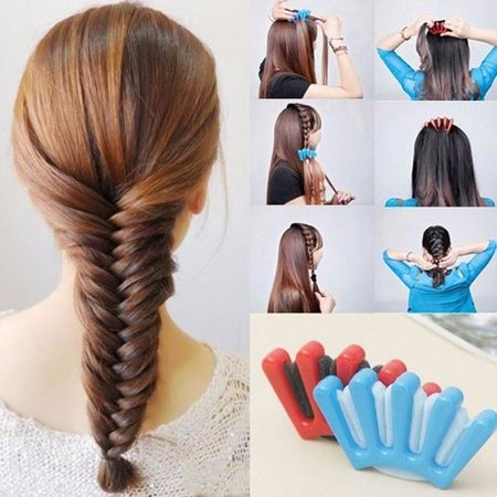Sponge Hair Braider Twist Styling Braid Tool Holder Clip DIY - Diy Halloween Hair Clips
