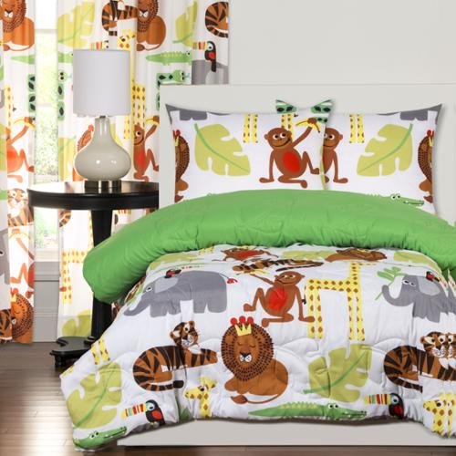 Crayola Jungle Love 3-piece Comforter Set Twin