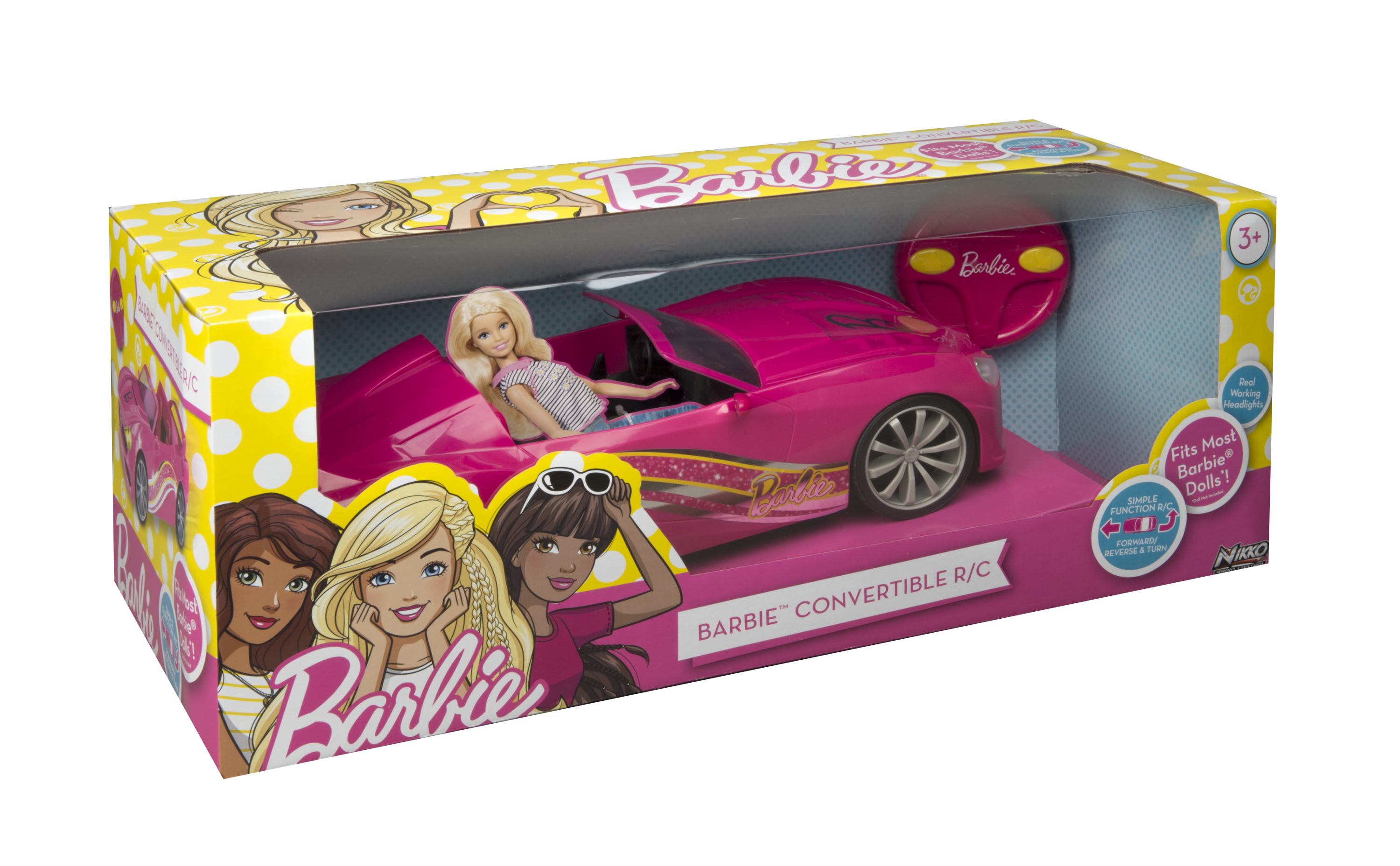 Barbie Convertible Remote Control Car by Toy State International Limited