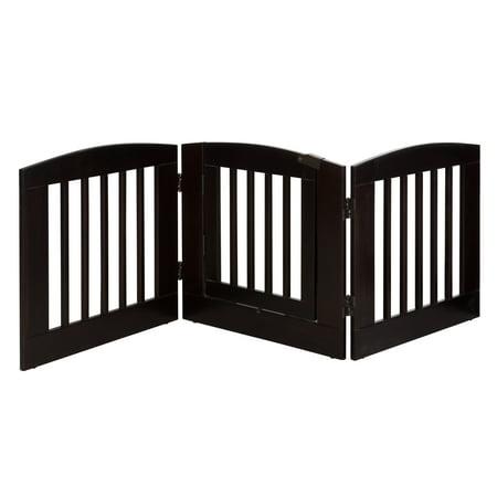Ruffluv 3 Panel Expansion Pet Gate with Door - Medium - 24