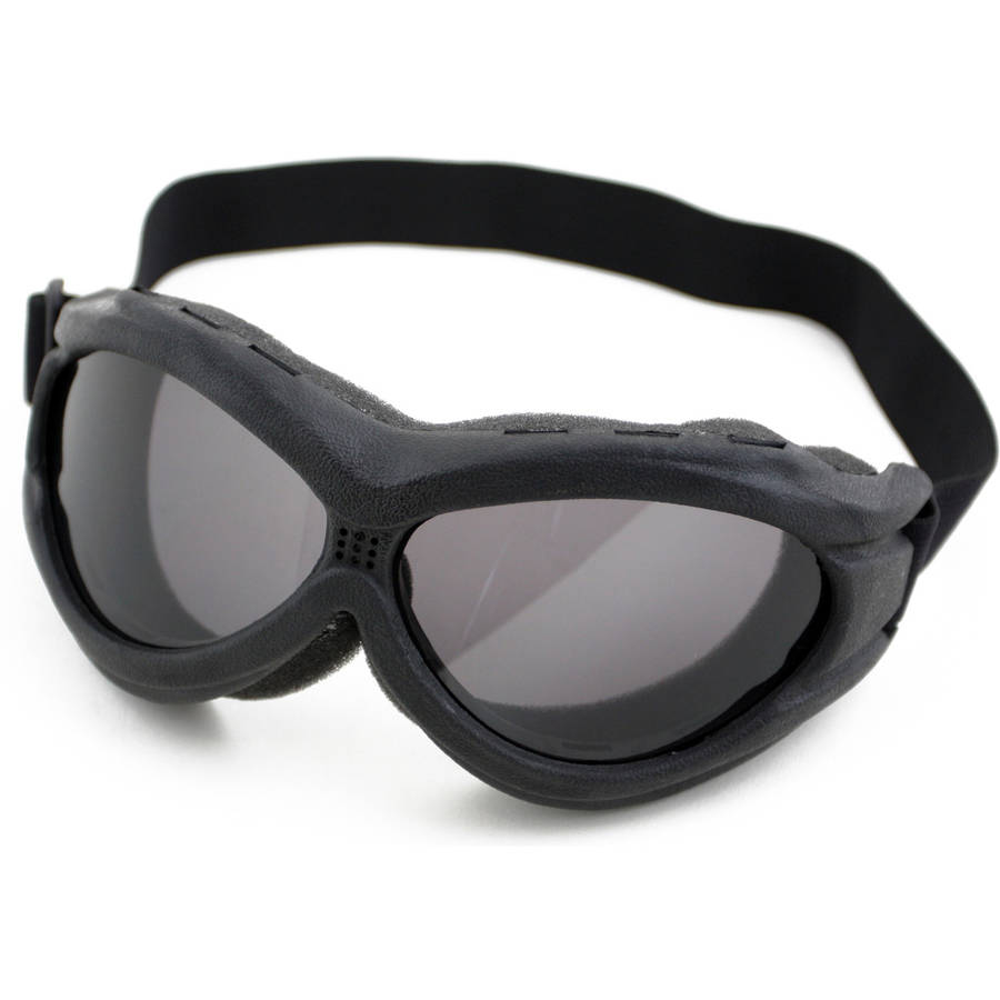 Sport Goggle with UV 400 Protection and Adjustable Head Straps, Humvee, Black