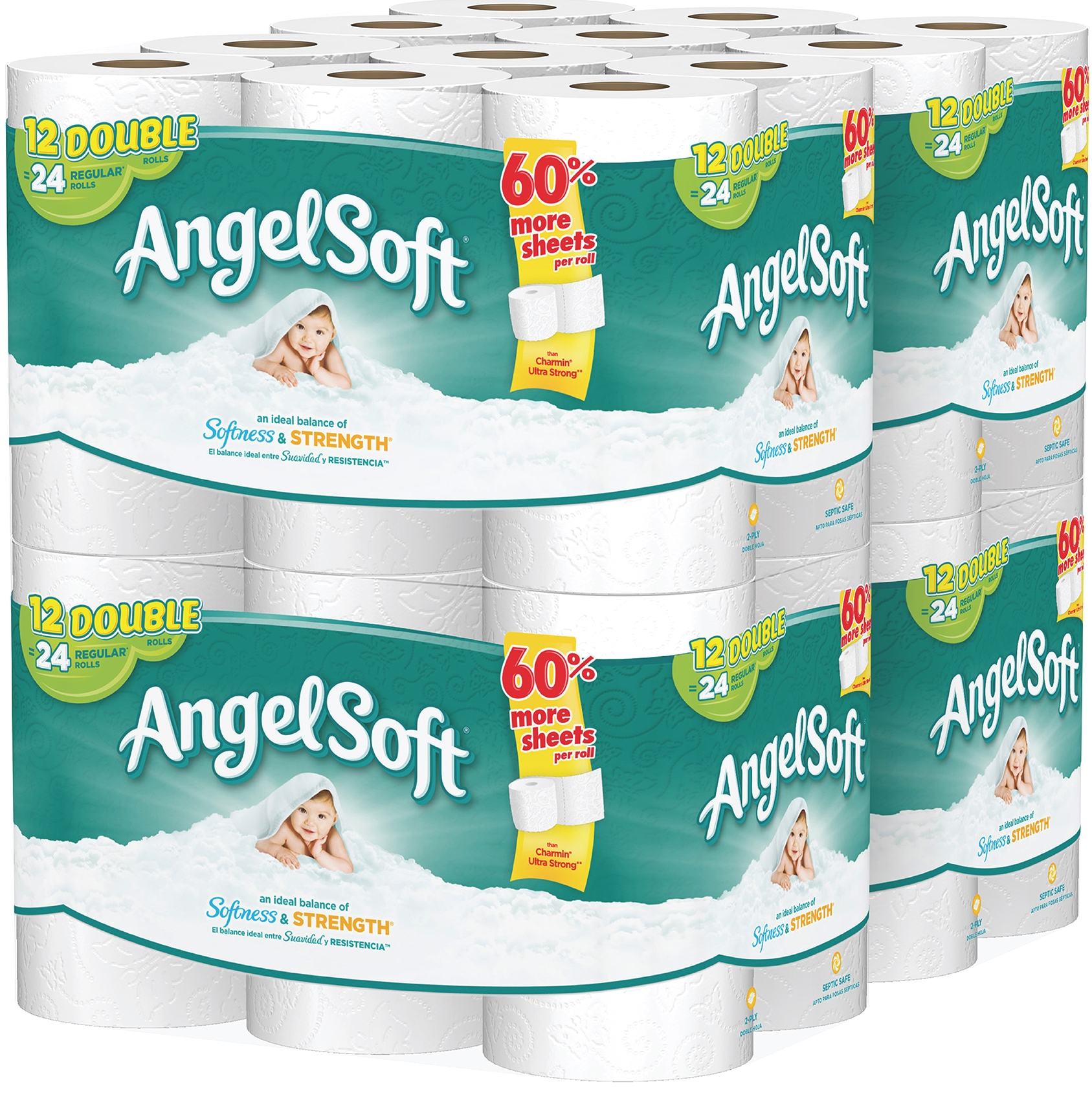 Angel Soft Toilet Paper, 48 Double Rolls