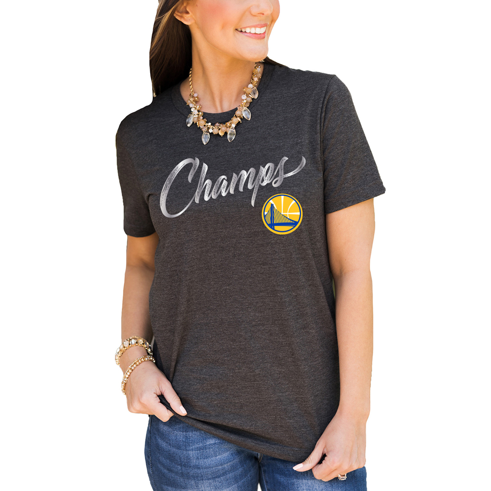 Golden State Warriors Women's 2018 NBA Finals Champions T-Shirt - Charcoal
