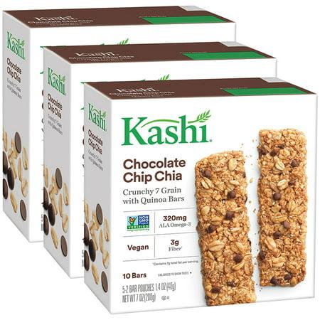 Kashi® Crunchy Quinoa Bars, Chocolate Chip Chia, 5 Ct (Pack of 3)