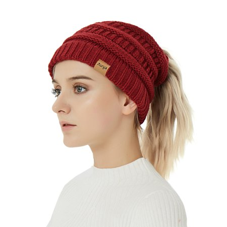 fe6d5995 Cable Knit Beanie-Warm&Stylish Winter Beanie Hats Caps Men Women by Aurya -  Walmart.com