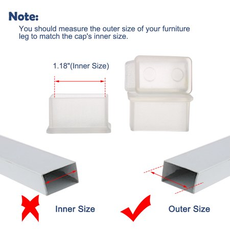 """Clear Chair Leg Caps Tip Feet Furniture Protector 15pcs 0.59""""x1.18"""" (15x30mm) - image 3 of 7"""