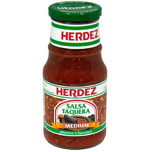 Herdez Taquera Medium Salsa, 16 oz (Pack of 12)