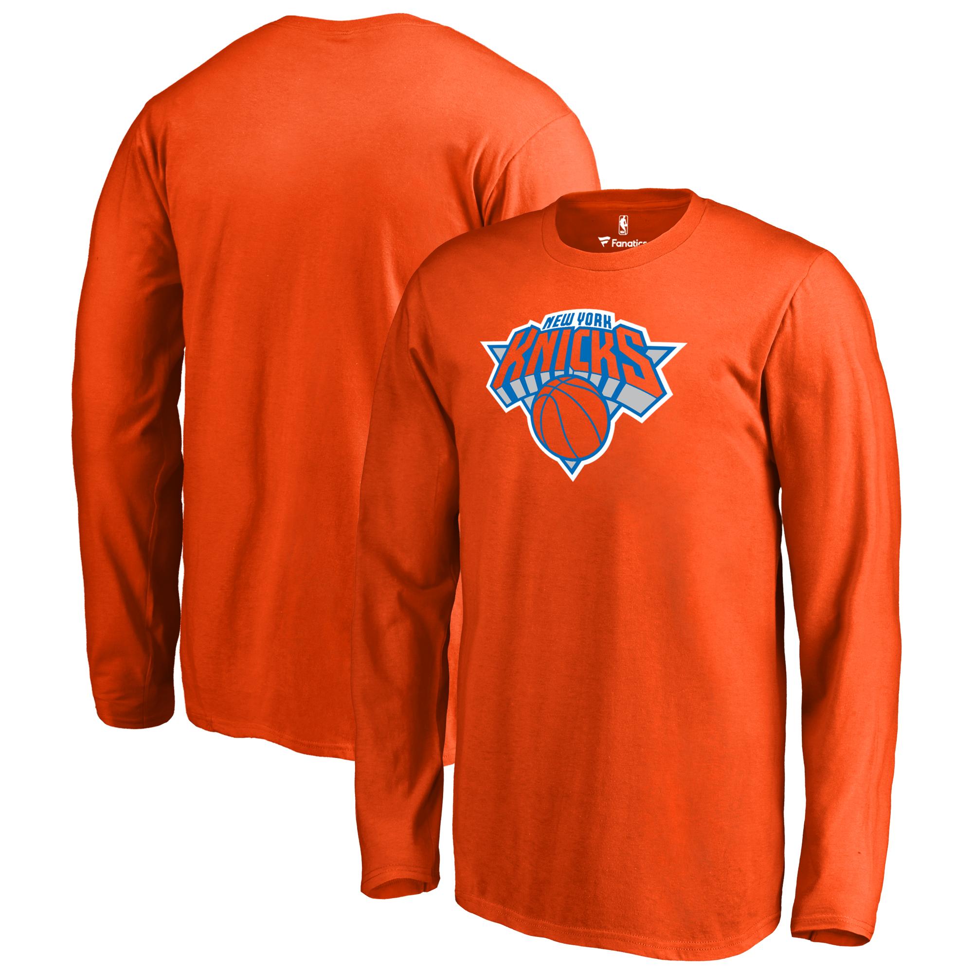 New York Knicks Fanatics Branded Youth Primary Logo Long Sleeve T-Shirt - Orange