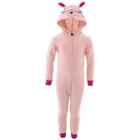 Saint Eve Girls Bunny Pink Hooded Blanket Sleeper - Fun Onesie For Adults