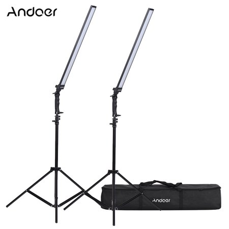 Andoer Photography Studio LED Lighting Kit Dimmable LED Video Light Handheld Fill Light with Light Stand 36W 5500K