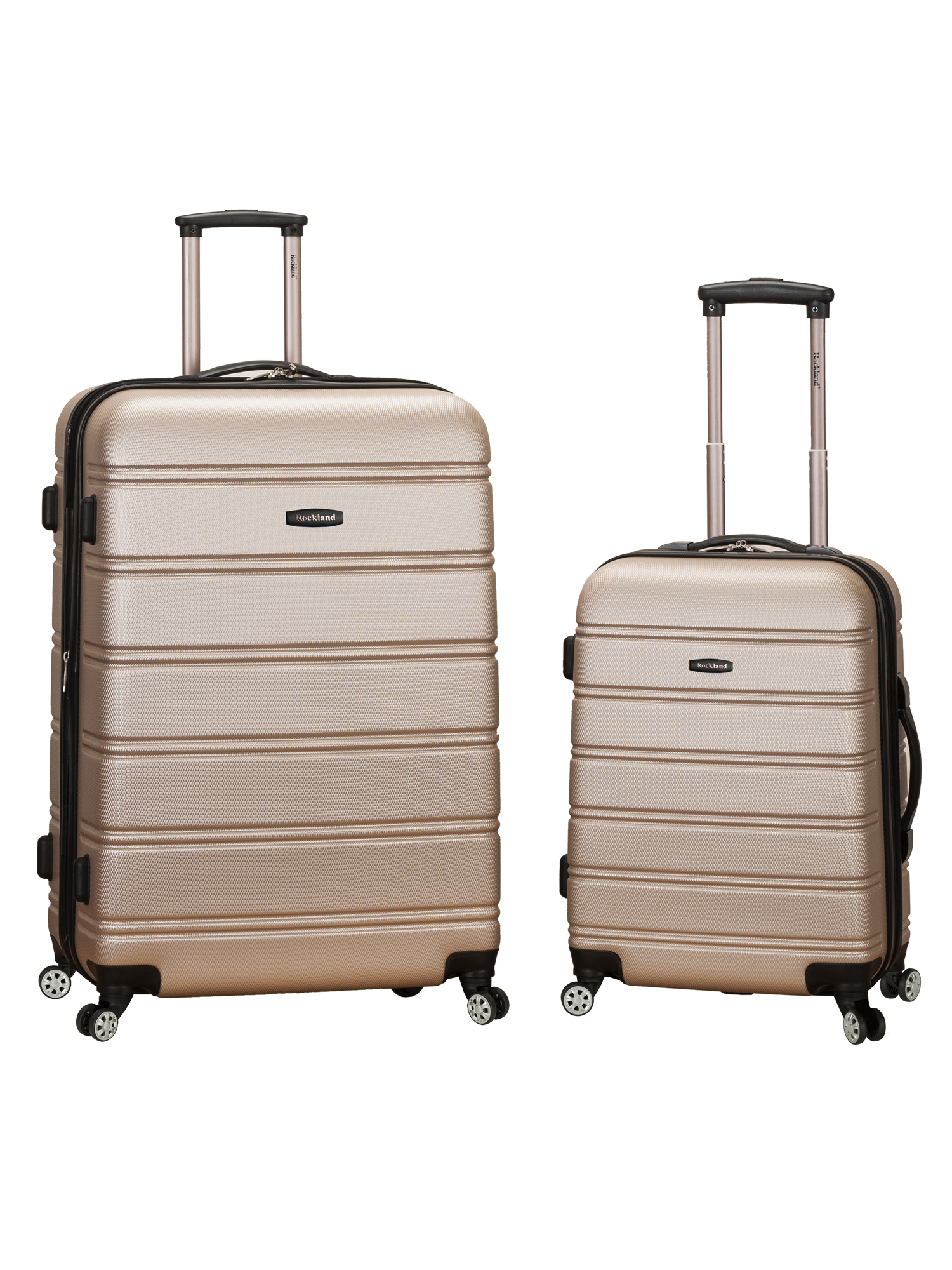 "Rockland Luggage Melbourne F225 Two-Piece Expandable Hardside Spinner Luggage Set (20"" and 28"" Suitcase)"