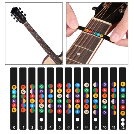 Aria Acoustic Bass (Acoustic Electric Guitar Stickers Bass Fretboard Note Labels Frets Decals )