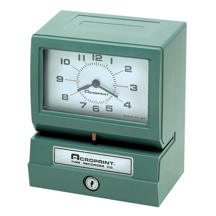 Acroprint Model 150 Analog Automatic Print Time Clock with Month Date 1-12 Hours Minutes by Acroprint Time Recorder Company
