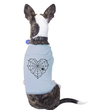 Heart Spider Web Sky Blue Pets Shirt Cute Graphic Small Dog
