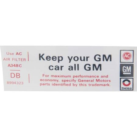 Jim Osborn DC0629 Keep Your GM Car All GM Decal for 1974