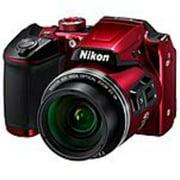 Nikon 26508 Coolpix B500 16 Megapixel Compact Camera - Red - (Refurbished)