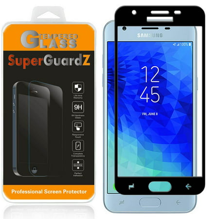SuperGuardZ Full Cover Tempered Glass Screen Protector For Samsung Galaxy J7 (2018) / J7V (2nd Gen, 2018) / J7 Star ()