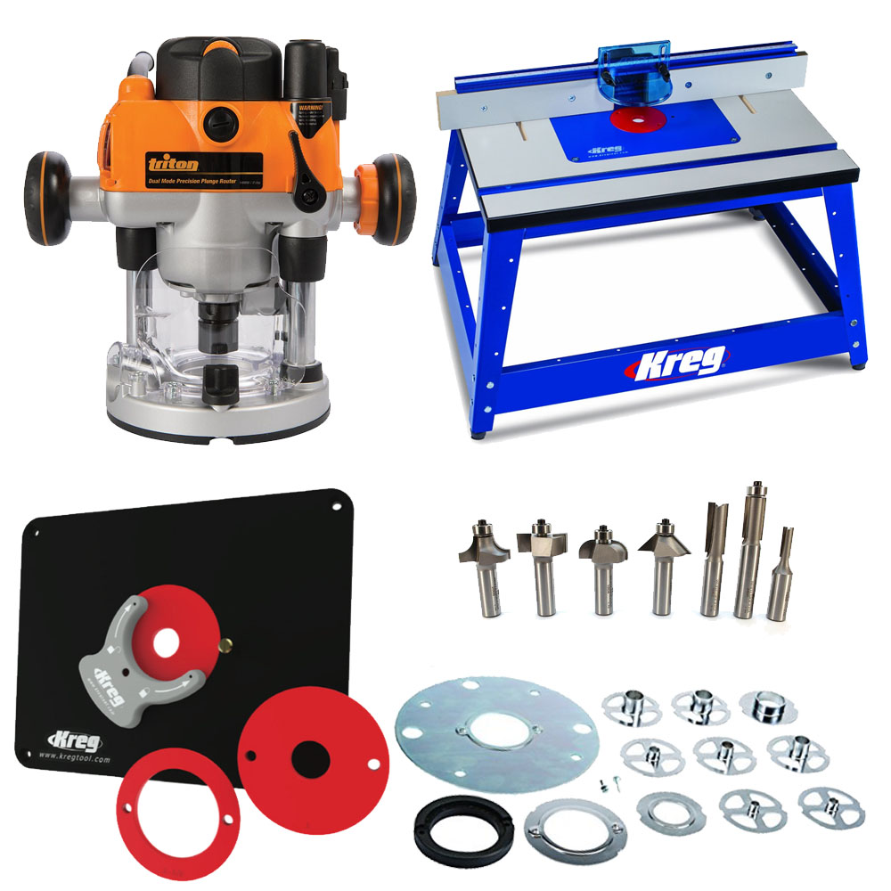 Triton MOF001,Template Guide ,Router Table,Insert Plate&Router Bit Set