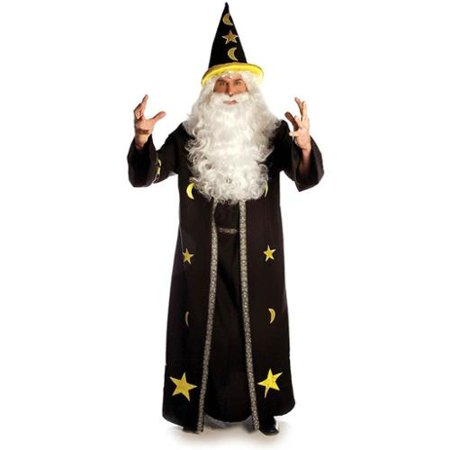 Dark Potion Brown Wizard Open Front Tunic Costume Robe Adult