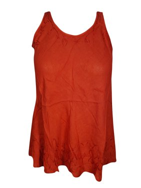 78c5182ca6a6 Product Image Mogul Womens Sexy Red Tunic Top Sleeveless Round Neck Summer  Fashion Blouse