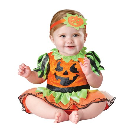 Jack The Pumpkin King Costume (In Character Infant Pumpkin Baby Jack O Lantern Dress Halloween)