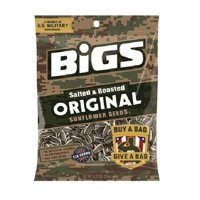 BIGS Original Salted & Roasted Sunflower Seeds, 5.35-Ounce Bags (Pack of 12)