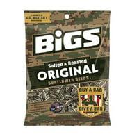 Product Of Bigs, Sunflower Seeds Original - Bag, Count 12 (5.35 oz) - Sunflower Seeds / Grab Varieties & Flavors