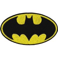 "Batman Logo - DC Comics Artwork Embroidered Iron On Patches, 4.5"" x 8"" Patch"
