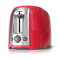BLACK+DECKER 2-Slice Extra Wide Slot Toaster, Red/Silver, TR1278TRM