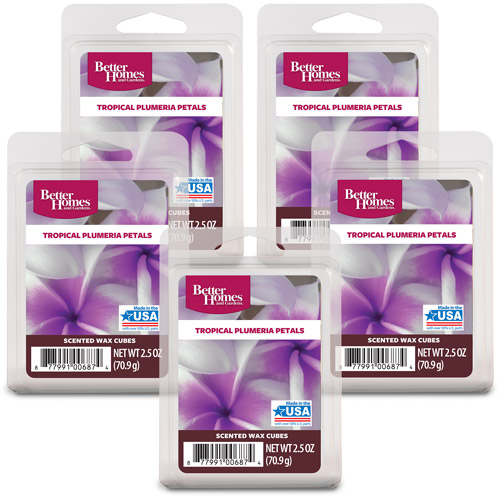 Better Homes and Gardens Wax Cubes, Tropical Plumeria, 5pk