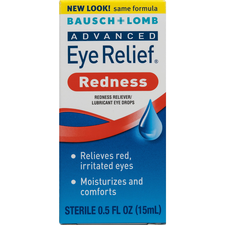 Bausch & Lomb Eye Relief Advanced Redness Eye Drops, 0.5 FL OZ