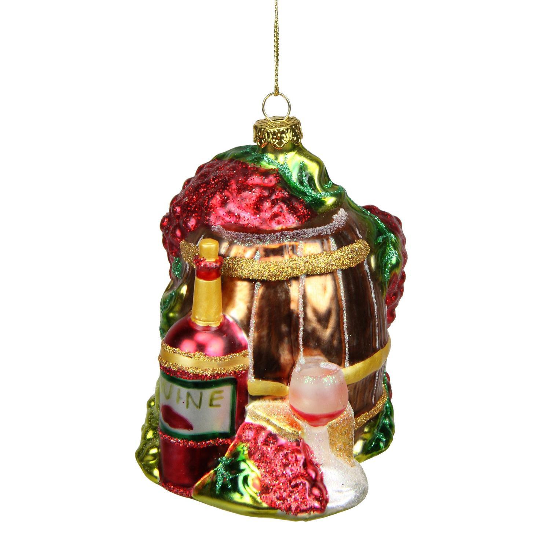"4"" Winery toscane vin rouge Barrel verre ornement de Noël - image 1 de 1"