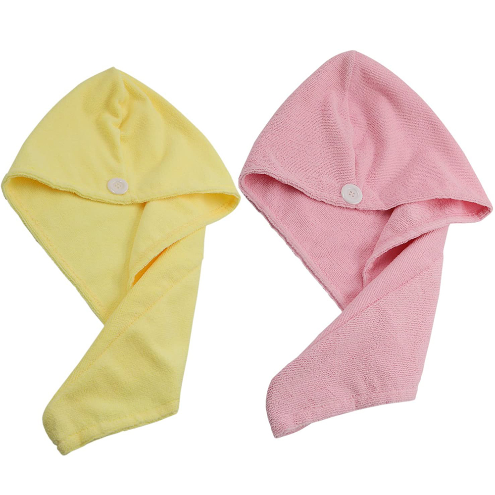 Details about  /1//2X Embroidered Hair Towel Drying Wrap Bathing Head Cap Quick//Fast Dry Shower