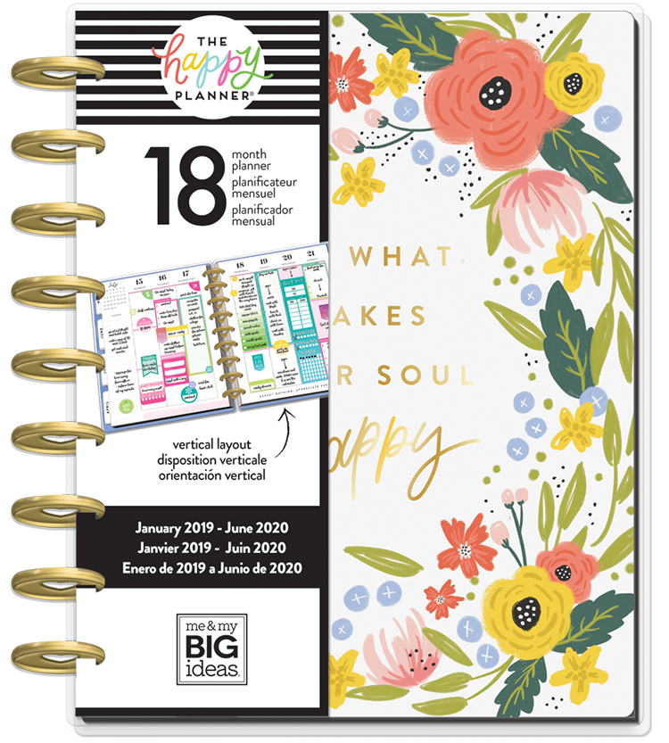 Me & My Big Ideas The Happy Planner - Classic 18 Month - Floral