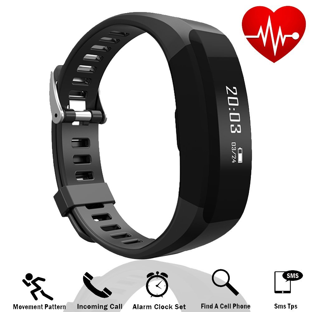 Tagital Fitness Tracker Smart Watch Band Heart Rate Monitor Bluetooth Wireless Bracelet HR Wristband Pedometer Track Steps Sleep
