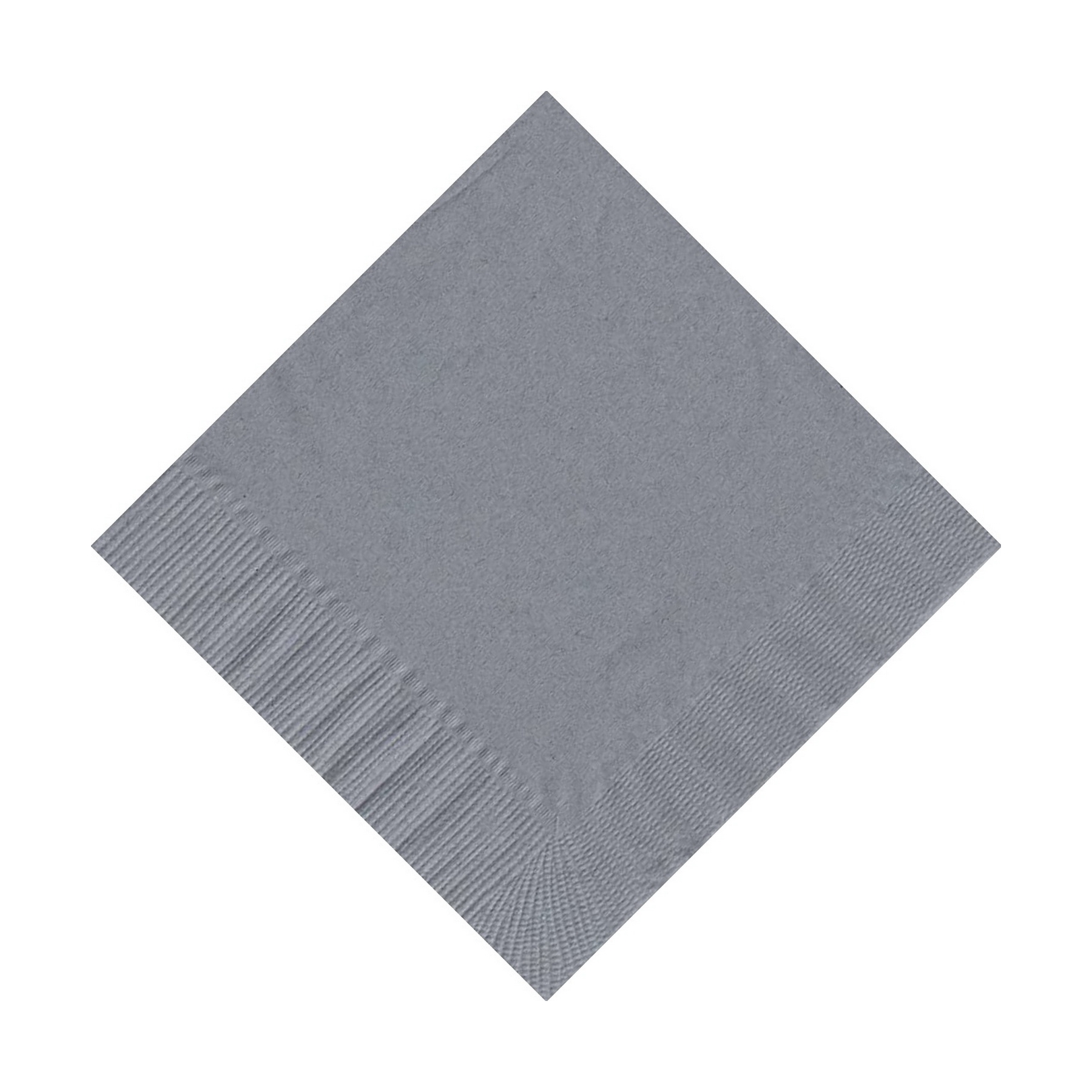 50 Plain Solid Colors Beverage Cocktail Napkins Paper Silver by CREATIVE CONVERTING