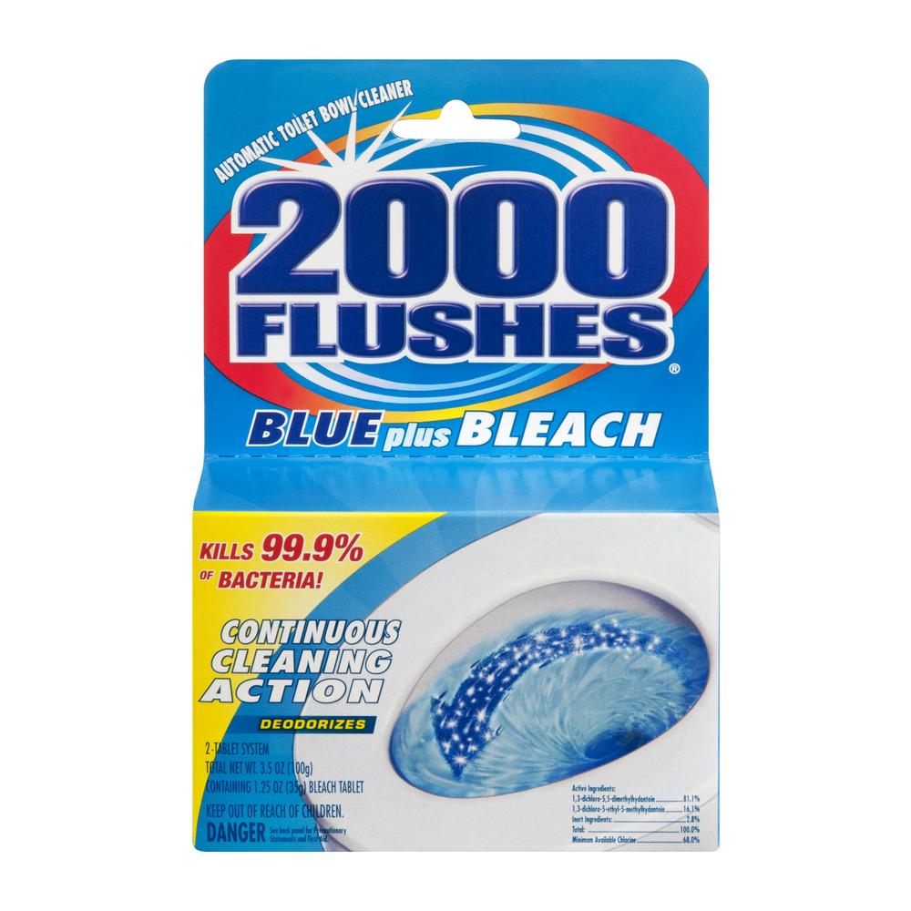 2000 Flushes Blue Plus Bleach, 3.5 OZ