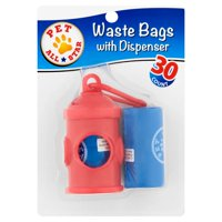 Pet All Star Waste Bags with Dispenser, 30 count