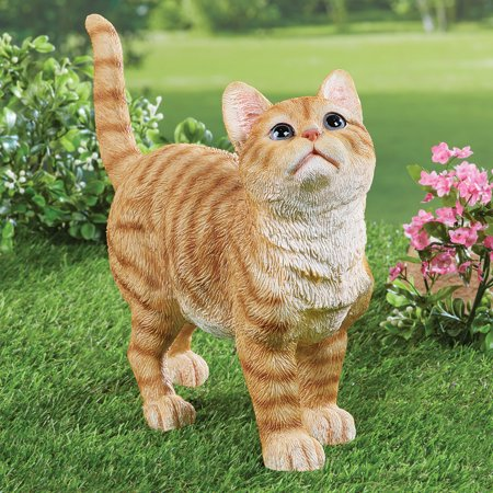 Collections Etc. Cute Kitty Orange Tabby Cat Garden Statue Outdoor Decoration ()